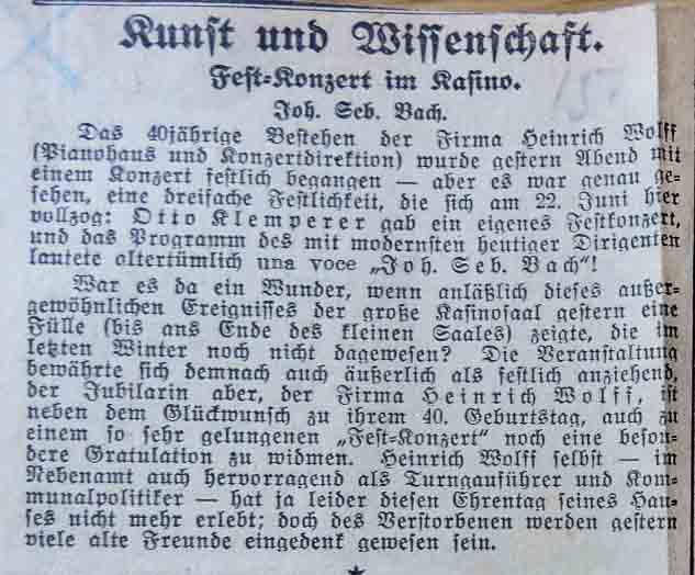 Heinrich Wolff Konzertrezension