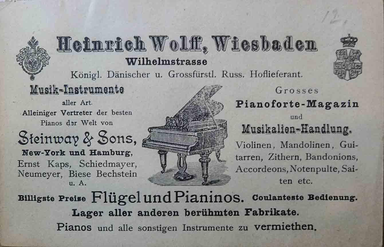 Heinrich Wolff Klaviere Flügel