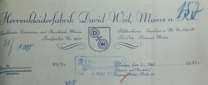 David Weil Babette Frieda Judenhaus bahnhofstr. 46 Wiesbaden
