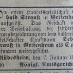 Sebald Strauss Geisenheim - HHStAW 469-24 258