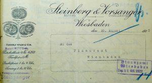 Steinberg Moritz Elfriede Judenhaus Wiesbaden Grillparzerstr. 9
