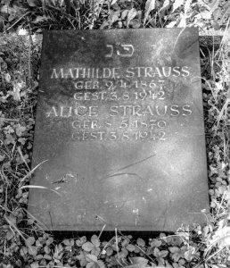 Alice Strauss, Mathilde Strauss, Grillparzerstr. 9, Judenhaus Wiesbaden