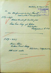 Julius Levy, Carolina Levy, geborene Cohen, Judenhaus Hallgarter Str. 6