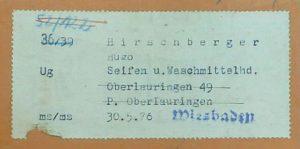 Hirschberger Oberlauringen, Judenhaus Wiesbaden, Hermannstr. 17, Jenny Hirschberger, Irma Hirschberger, Herta Hirschberger, Betty Hirschberger, Flora Hirschberger